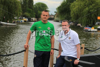 ©Press Eye Ltd Northern Ireland - 1st June 2012. Mandatory Credit - Picture by Darren Kidd/Presseye.com .  .  Northern Ireland manager and captain press conference ahead of their international friendly against Holland in Amsterdam on Saturday evening.. Northern Ireland captain Sammy Clingan and Manager Michael O\'Neill.