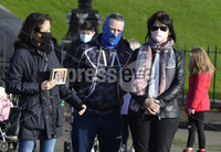 Press Eye - Belfast - Northern Ireland - 21st November 2020 - . 21st November 2020. Family members who have loved ones in care homes pictured at a demonstration at  Parliament Buildings in Belfast for better access to relatives in care during the current lockdown..  Mandatory Credit : Stephen Hamilton/Presseye