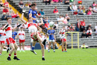 PressEye - Belfast - Northern Ireland - 16th July 2017. Ulster Minor Football Championship Final. Derry v Cavan. Pictured: Cavan\'s Ronan Patterson and Derry\'s ***.. Picture: Philip Magowan / PressEye