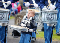 Press Eye Belfast - Northern Ireland 13th July 2017. Thousands of spectators attend the annual Sham Fight and Royal Black Preceptory parade in the County Down village of Scarva.  The event is a theatrical re-enactment of the victory of William III of Orange over the Catholic King James II at the Battle of the Boyne in 1690.  . Picture by Jonathan Porter/PressEye.com.
