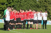 ©/Presseye.com - 17th July 2017.  Press Eye Ltd - Northern Ireland - Hughes Insurance Foyle Cup 2017- U-17 - Derry City V Willowbank FC (Belfast)  . Members of the Willowbank FC team during the minutes silence in memory for senior player James Moore..  . Mandatory Credit Photo Lorcan Doherty / Presseye.com