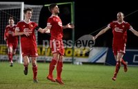 Tennent\'s Irish Cup Round 6, Windsor Park, Belfast 11/2/2019. Ballymena v Portadown.  Portadown\'s   Adam Salley celebrates after he fires his side into a 1-0 lead. Mandatory Credit INPHO/Stephen Hamilton.