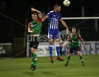 Danske Bank Premiership, NIFL. The Oval, Belfast. . 07-09-2018. Glentoran v Newry City AFC. Stevie Gordon Glentoran and Declan Carville Newry. Mandatory Credit ©INPHO/Freddie Parkinson