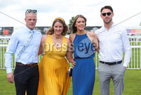 Press Eye - Belfast - Northern Ireland - 22nd June 2019 - . Summer Festival Of Racing Day 2 at Down Royal Racecourse.. Mark McClelland, Robyn Lennox, Christy Hunter and Michael Hall pictured at Down Royal Racecourse.. Photo by Kelvin Boyes / Press Eye.