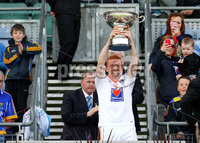 Nickey Rackard Final, Croke Park, Dublin 9/6/2012. Armagh vs Louth. Armagh\'s Ryan Gaffney lifts the trophy . Mandatory Credit ©INPHO/Ryan Byrne