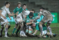 IRB Junior World Championship Pool B, Danie Craven Stadium, Stellenbosch, South Africa 8/6/2012. England vs Ireland. Ireland\'s Iain Henderson is caught in the tackle. Mandatory Credit ©INPHO/Ron Gaunt