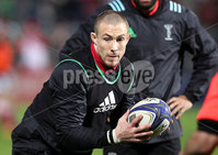 European Rugby Champions Cup Round 4, Kingspan Stadium, Belfast 15/12/2017. Ulster vs Harlequins. Harlequins\' Mike Brown warms up. Mandatory Credit ©INPHO/Tommy Dickson