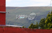 Press Eye Belfast - Northern Ireland 11th September 2018. Free Palestine writing appears on the side of Divis Mountain in Belfast.  A anti-Israeli protest is due to take place in Belfast ahead of tonight\'s friendly international match between Northern Ireland and Israel at Windsor Park. . Picture by Jonathan Porter/PressEye.com