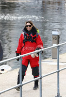 Press Eye - Belfast -  Northern Ireland - 06th March 2016 - Photo by William Cherry. The One Show presenter Alex Jones who will be swapping the comforts of the studio for five days of nautical torture as she attempts to sail around the UK on the BT Sport Relief Challenge: Hell on High Seas. The One Show presenter was joined by Angellica Bell, Hal Cruttenden, Doon Mackichan, Ore Oduba and Suzi Perry in a mammoth challenge which will see them battle fearsome winds freezing temperatures and rough seas in a feat of pure physical mental and emotional endurance. The challenge is sponsored by BT a long-term supporter of Sport Relief challenges since 2009. Setting off from Belfast Harbour Marina on Monday 7th March the crew will attempt to sail to London around the north coast of the mainland in just 5 days finishing on Friday 11th March.