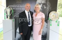 Press Eye - Belfast - Northern Ireland - 8th September 2018 - . Clive and Alison Bowles pictured at the Archbishop's Palace in Armagh along with friends and family of Dr Rory Best OBE to witness the sportsman's conferment with the Freedom of the Borough of Armagh City, Banbridge and Craigavon..  . Photo by Kelvin Boyes / Press Eye..