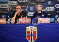 Press Eye - Belfast -  Northern Ireland - 07th October 2017 - Photo by William Cherry/Presseye. Northern Ireland manager Michael O\'Neill and captain Steven Davis during Saturdays Press Conference at the Ullevaal Stadion, Oslo ahead of Sundays World Cup Qualifier against Norway.   Photo by William Cherry/Presseye