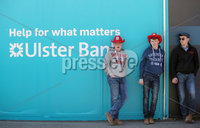 Press Eye - Belfast - Northern Ireland - 16th May 2018. First day of the 2018 Balmoral Show, in partnership with Ulster Bank, at Balmoral Park.  Hanging around at the 150th Balmoral show. . Picture by Jonathan Porter/PressEye
