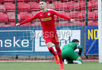 Danske Bank Premiership, Solitude, Belfast 11/11/2017 . Cliftonville vs Ballinamallard. Cliftonville\'s Jay Donnelly celebrates after scoring. Mandatory Credit ©INPHO/Presseye/Jonathan Porter