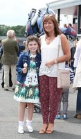 Press Eye - Belfast - Northern Ireland - 13th July 2017 . Downpatrick racecourse family fun race day.. Leigh and Marian Dornan. Picture by Matt Mackey / presseye.com.
