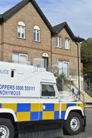 12th October 2017 . The death of a woman whose body was found in a Belfast flat six days ago is being treated as murder, police have said.. The victim was discovered in the flat in Larkspur Rise in the west of the city last Friday.. The murder inquiry was launched by detectives from the PSNI\'s Serious Crime. Branch..  Photo: Presseye/Stephen Hamilton