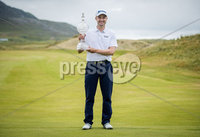 2018 Dubai Duty Free Irish Open - Day 4, Ballyliffin Golf Club, Co. Donegal 8/7/2018. Russell Knox celebrates with the trophy on the 18th green. Mandatory Credit ©INPHO/Oisin Keniry