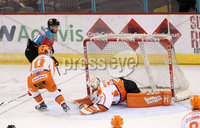5 January 18, Mandatory Credit ©Press Eye/Darren Kidd.  . Goal for Belfast Giants David Rutherford against Sheffield Steelers at Friday nights Elite League game at the SSE Arena, Belfast.
