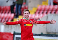 Press Eye - Belfast - 6th January 2018  . Cliftonville v Warrenpiont Town, Tennents Irish Cup 5th round at Solitude, North Belfast.. Cliftonville\'s Ross Lavery celebrates . Picture by Matt Mackey / Inpho.ie