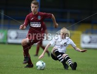 PressEye-Northern Ireland- 27th   July  2018-Picture by Brian Little/PressEye. SuperCupNI. Minor  Section . Greenisland  Kenzie McMullan     against Bertie Peacock Youths Bobby-Jack McAleese      during the SuperCupNI Minor Final  at Coleraine Showgrounds. . Picture by Brian Little/PressEye