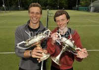 ©Russell Pritchard / Presseye  - 9th June 2012. Tennis : Ulster Senior Open at Belfast Boat Club.. Mens Doubles (A) Final between Gordan Watt / Matthew McClurg v Ben Featherston / Frasier McFall. Mens Doubles (A) Final Winners Gordan Watt / Matthew McClurg. ©Russell Pritchard / Presseye