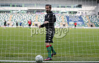 Danske Bank Irish Premiership Europa League Play-Off Semi Final, Windsor Park, Belfast. 9/5/2018. Linfield vs Glentoran. Glentoran striker Curtis Allen is available for tonight\'s match against Linfield,  after his red card was over-turned this morning.  . Mandatory Credit@INPHO/ Brian Little
