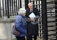 Mandatory Credit - Picture by Freddie Parkinson/Press Eye ©. Thursday 30 November 2017. Former Minister of the Environment Dermot Nesbitt leaving Belfast High Courts.