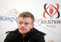 Press Eye Belfast - Northern Ireland 10th October 2017. Ulster Rugby press conference at the Kingspan Stadium in east Belfast ahead of their Champions Cup fixture versus Wasps on Friday night.  . Dwayne Peel. . Picture by Jonathan Porter/Inpho .