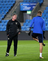 Press Eye - Belfast -  Northern Ireland - 07th October 2017 - Photo by William Cherry/Presseye. Northern Ireland manager Michael O\'Neill during Saturdays nights training session at the Ullevaal Stadion, Oslo ahead of Sundays World Cup Qualifier against Norway.   Photo by William Cherry/Presseye