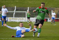 4th May 2021. Danske Bank Irish league,The Oval,Belfast.. Glentoran v Coleraine . Glentorans  Andy Mitchell  in action with Coleraines  Aaron Canning. Mandatory Credit Inpho/Stephen Hamilton