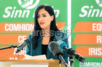 Press Eye - Sinn Feinn Manifesto launch - Galgorm Hotel - Ballymena -  5th April 2019. Photograph by Declan Roughan. Sinn Fin launches party Manifesto for Local Government Elections 2019. Patrice Hardy..