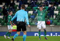 Press Eye - Belfast, Northern Ireland - 12th November 2020 - Photo by William Cherry/Presseye. Northern Ireland\'s Kyle Lafferty during Thursday nights UEFA Euro 2020 Play-Off Final at the National Football Stadium at Windsor Park.   Photo by William Cherry/Presseye