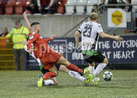 . Danske Bank Premiership, Solitude, Belfast 3/11/2018. Cliftonville vs Glentoran. Cliftonville\'s Joe Gormley fires home the winning goal. Mandatory Credit INPHO/Stephen Hamilton