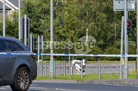 Press Eye Belfast - Northern Ireland 10th August 2017. The scene on the Springfield Road in west Belfast where there is an ongoing security alert. . Picture by Jonathan Porter/PressEye.com