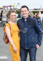 Press Eye - Belfast - Northern Ireland - 13th July 2017 . Downpatrick racecourse family fun race day.. Rosie Conor along with Aodhan Caldwell. Picture by Matt Mackey / presseye.com.