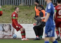 9th January 2021. Danske Bank Premiership, Solitude, Belfast . Cliftonville vs Crusaders . Cliftonville\'s  Rory Hale celebrates his goal with Joe Gormley . Mandatory Credit INPHO/Stephen Hamilton