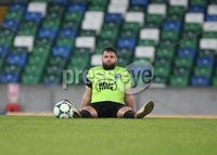 Danske Bank Premiership, Windsor Park, Belfast  3/11/2018. Linfield FC vs Warrenpoint Town. Warrenpoint Town goal scorer Simon Kelly exhausted after his held onto a 1-0 lead before an Linfield  extra time goal snatched away a victory.. Mandatory Credit @INPHO/Brian Little.