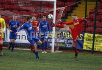 Danske Bank Premiership, Solitude, Belfast 1/12/2018 . Cliftonville vs Dungannon Swifts. David Armstrong Dungannon and Rory Donnelly Cliftonville. Mandatory Credit INPHO/Freddie Parkinson