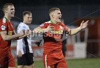 . Danske Bank Premiership, Solitude, Belfast 3/11/2018. Cliftonville vs Glentoran. Cliftonville player Levi Ives celebrate at the final whistle. Mandatory Credit INPHO/Stephen Hamilton