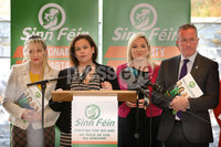 Press Eye - Sinn Feinn Manifesto launch - Galgorm Hotel - Ballymena -  5th April 2019. Photograph by Declan Roughan. Sinn Fin launches party Manifesto for Local Government Elections 2019. (L-R) Martina Anderson, Mary Lou Mc Donald and Conor Murphy
