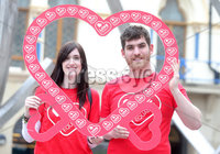 Press Eye Belfast - Northern Ireland 16th May 2017. LOVE ON THE STREET' AS BELFAST PUBLIC SHOWS SUPPORT FOR MARRIAGE EQUALITY. Members of the Belfast public are showing their support for marriage equality in Northern Ireland today as campaigners take to the streets all over the city..  . As part of Northern Ireland LGBT Awareness week (15th – 21st April), Love Equality, the campaign for marriage equality in Northern Ireland, is taking the campaign to the streets to demonstrate how widespread support for marriage equality is and to answer questions from members of public on how this affects them, their families and their communities.. Left to right.  Becka Price and Matthew Corr. Picture by Jonathan Porter/PressEye.com.