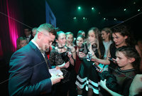 Press Eye - Belfast - Northern Ireland - 6th February 2017 -  . Belfast Telegraph Sports Awards 2016.. Carl Frampton signs autographs.. Photo by Kelvin Boyes / Press Eye..
