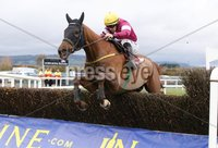 Press Eye - Belfast - Northern Ireland - 3rd November 2018 . Down Royal Festival of Racing - Day 2. 2.30pm Fourth Race. The JNwine.com Champion Chase (Grade 1) of 140,000. Road To Respect ridden by Sean Flanagan jumps the last fence to win the big race.. Photo by Kelvin Boyes / Press Eye..