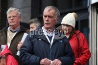Press Eye Northern Ireland. Thursday 14th March 2019. Bloody Sunday families leaving the City Hotel following the briefing with the Department of Public Prosecutions.. Gerry Duddy.. Photo Lorcan Doherty/Presseye