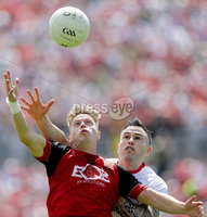 Ulster GAA Senior Football Championship Final, St Tiernach\'s Park, Clones, Co. Monaghan 16/7/2017. Down vs Tyrone. Down\'s Jerome Johnston with Cathal McCarron of Tyrone. Mandatory Credit ©INPHO/Morgan Treacy