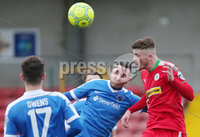 Danske Bank Premiership, Solitude, Belfast 11/11/2017 . Cliftonville vs Ballinamallard. Cliftonville\'s Rory Donnelly with Ballinamallard\'s Jason McCartney. Mandatory Credit ©INPHO/Presseye/Jonathan Porter