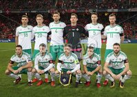 PressEye-Northern Ireland- 12th November  2017-Picture by Brian Little/ PressEye. Northern Ireland team against  Switzerland   during Sunday night\'s FIFA  World Cup play-off  second leg match at St Jacob Park, Basel.. Picture by Brian Little/PressEye