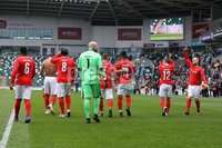 Press Eye - My Tribute - Callum Best Charity Football Match - Calum\'s NI XI vs Jake\'s United XI. 14 April 2019. Photograph by Declan Roughan. DANNY Dyer and Calum Best are among celebrities who will take part in a football match at Windsor Park in Belfast next month in aid of a charity which supports children growing up in families struggling with alcohol issues.. The \'My Tribute\' match will be hosted by Best, son of Northern Ireland footballer George Best, who battled alcohol addiction throughout his life.. Mr Best has organised the event in aid of the National Association For Children of Alcoholics.