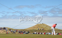 2018 Dubai Duty Free Irish Open, Ballyliffin Golf Club, Co. Donegal 8/7/2018. Erik van Rooyen on the 1st green . Mandatory Credit ©INPHO/Oisin Keniry
