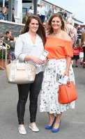 Press Eye - Belfast - Northern Ireland - 13th July 2017 . Downpatrick racecourse family fun race day.. Seainin and Marie Mahon. Picture by Matt Mackey / presseye.com.
