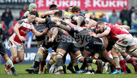 European Rugby Champions Cup Round 5, Kingspan Stadium, Belfast 13/1/2018. Ulster vs La Rochelle. La Rochelle\'s Victor Vito at the back of a scrum . Mandatory Credit ©INPHO/Ryan Byrne